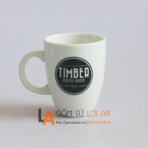 Cốc coffe in logo Timer coffe