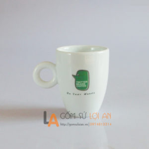 Cốc in logo Twiter bears coffe